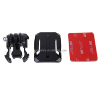 Helmet Curved Surface Attachment+Buckle Basic Mount+ for 3M VHB Sticker for Car DVR SJ4000 for Gopro Hero3+ 3 2 1 Cameras