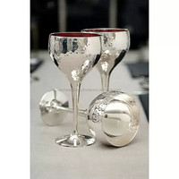 Silver champagne goblets