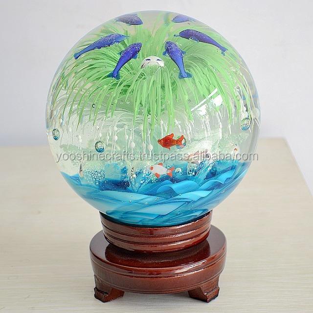 G015 viva verde bola de vidro artesanato em vidro for Bolas de cristal decorativas