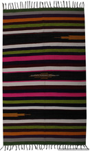 Indian Wool Rugs Ethnic Home Decor Dariya Decorative Carpet Hand Woven Multicolor Striped