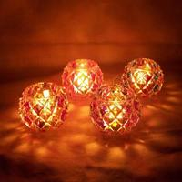mixed colors Lantern Glass Candle Holder