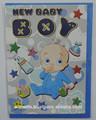 nuevo bebé niño hermoso tiempo de tarjetas de felicitación