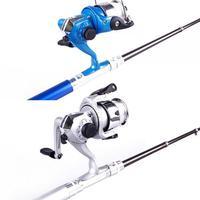 "39"" Fishing Tackle Telescopic Spinning Pocket Pen Rod Pole Reel Aluminum Alloy #43078"