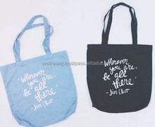 Vietnam factory canvas tote bag natural cotton shopper bag