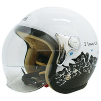 JAPANESE cute motorcycle helmet with animal motif available Black and White