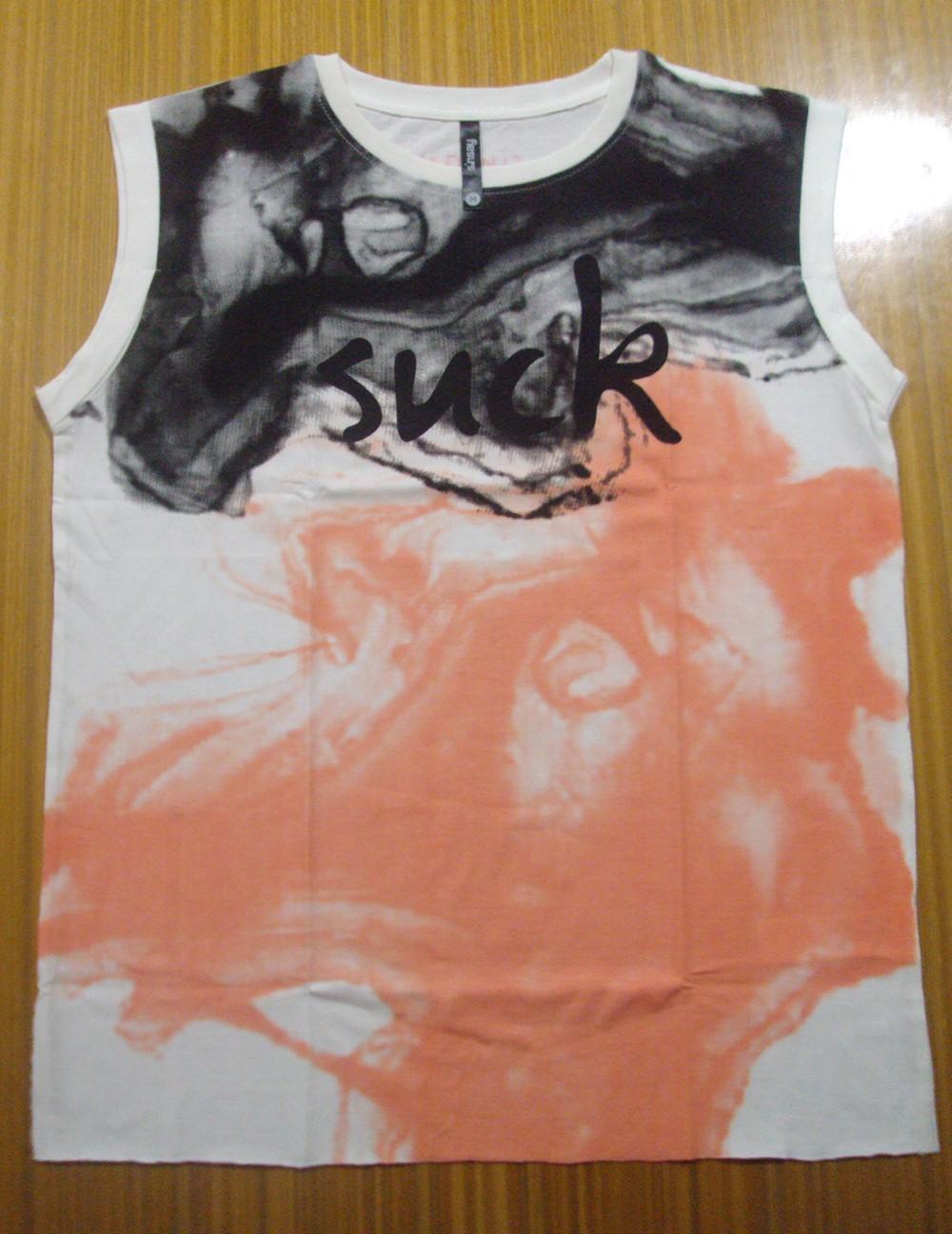 2015 moda mais recente projeto senhoras algodão penteado impresso da tela de seda super qualtiy camiseta