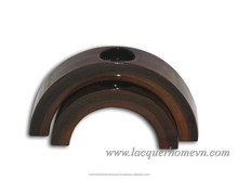 HT0310 Lacquered wood candle holder Vietnam - http://lacquerhomevn.com/