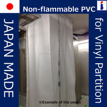 safe and High-performance fire shutter half transparent with non-flammable made in Japan
