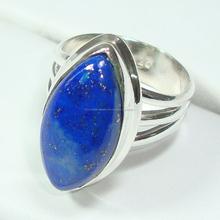 Wholesale indiani lazul anelli gioielli lapis. Argento 925 anelli della pietra preziosa autentico
