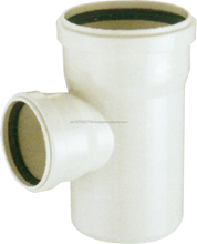 PVC TEE WITH RUBBER RING---plastic pvc -u pipe fitting for WATER DRAINAGE WITH EXPANDING(DIN) ZAT- TY2771