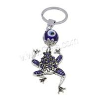 Evil Eye Key Chain Zinc Alloy with Lampwork & Iron plated evil eye & with rhinestone nickel lead & cadmium free 34x140x18mm Hol