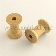 Carretéis para fios de madeira vazio rosca bobinas BurlyWood 29 x 22 mm furo : 6 mm WOOD-Q018-26