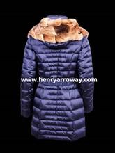 Abrigo de plumas para invierno con capucha de pelo orylag natural parka para mujeres Henry Arroway