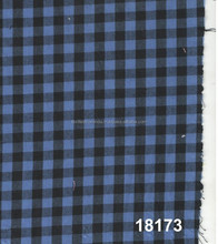 blue and black plaid check fabric
