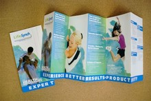 Full colour folded leaflets printing
