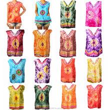 Women/Ladies/Girls Tie Dye Shirt/Top/Tank Festival Free Size Fits S, M, L