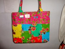 BRKH-18 Mix shade Shoulder Tote bag Fruitprint Kantha Stitch handmade Multipurpose Shoulder Tote Bag Manufacturer from Jaipur