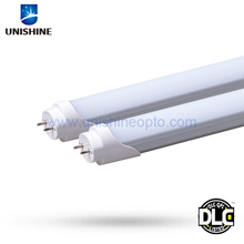 DLC Listed hot waterproof 4ft 18W LED T8 Tube with clear/frosted cover