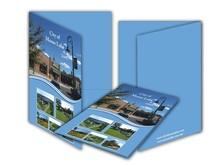 customize PU PVC leather presentation file folders portfolios