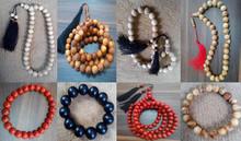 Wood beads (Gaharu/Agarwood, Sandalwood/Cendana, Agathis, White Champaca/Cempaka, Kaokah, Pine, Palm seeds, Rattan seeds, etc)