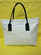 Foldable Natural cotton Vietnam recycled bag