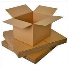 shipping brown/white corrugated box