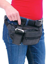 2015 New fashion Black Cell Phone Fanny Pack for mens