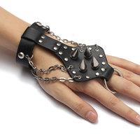 Beautiful Design 1PC Black Rock Punk Unisex Wristband Metal Leather Copper Rivet Bracelet Cool Fashion