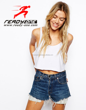 Custom crop top 2015 stylish crop top made in China no design limit