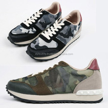 4SSD0819 CAMOUFLAGE LACE-UP FASHION SNEAKERS MADE IN KOREA