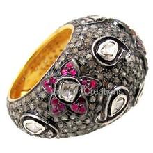 2015 Professional Design Rose Cut Diamond Ring, Latest Design Diamond Ring,New Wedding Wholesale Ring's