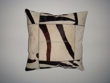 Beautiful cow leather cushion cover