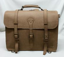 100% Genuine Crazy Horse Leather Men's Briefcase Laptop Bag Messenger