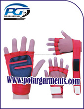 Adjustable Fashion weight lifting gloves with Leather Palm