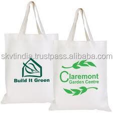promotional white shopping tote bag white