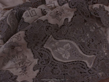handmade embroidery table cloth handmade Ecru Argo Lace fine embroidery tablecloths Large size 72 x 144 inch large size