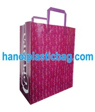 HDPE folded loop bag with nice printing