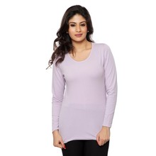 Clifton Women's Basic T Shirt Full Sleeve Round Neck - Lilac