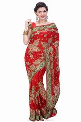 Indian sari/saree with blouse stitching at Cheap prices