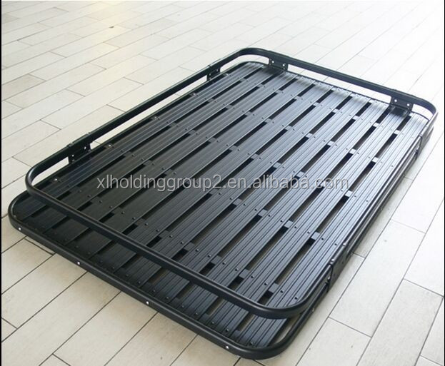 noir porte bagages en acier voiture toit rack cargo panier pour jeep jk wrangler pour 2 portes. Black Bedroom Furniture Sets. Home Design Ideas