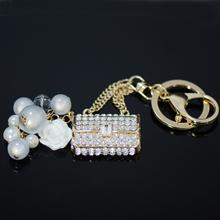 Beautiful Diamante Handbag Keyring, Wholesale key chains fancy key rings