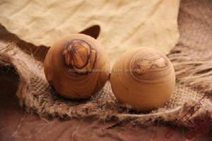 Olive legno intagliato della sfera di massaggio
