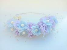 Flower Crown Hairband, Handmade Fashionable Hair Accessories for Children and Adults