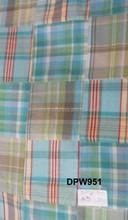 Madras Check Patchwork handmade pure fabrics For Coat