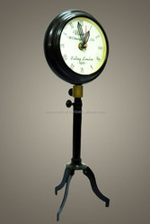 Standing Antique Brass Table Clock, Beautiful Brass Table Clock, Tableware Brass Table Clock