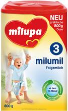 Milupa Milumil 3 800 g bebê fortificado leite em pó baunilha sabor