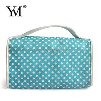 2012 hot sale designer high quality white satin cosmetic bags