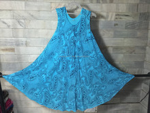 SUMMER RAYON BEACH DRESS UMBRELLA TIE AND DYE DRESS