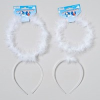 ANGEL HALO HEADBAND 2 SIZE 6 OR 7IN DIA WHITE #G19043
