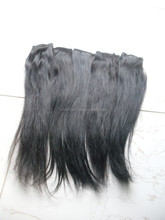 Indian Remy hairs Hand tied weft straight extensions